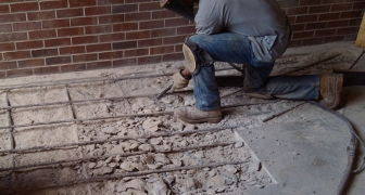 Concrete Spall Repair at UF Architecture Building